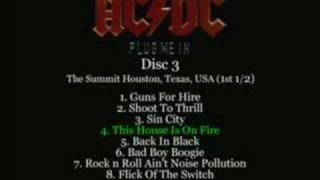AC/DC - This House Is On Fire Live 1983