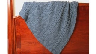 Cabled Baby Afghan - Part 1