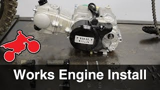 108cc Works Pit Bike Engine Install And Testing - TBoltUSA