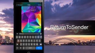 "ReturnToSender turns the ""return"" key into a ""Send"" key in Messages - iPhone Hacks"