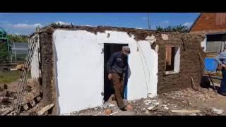 Самый настоящий саманный дом, был. Строим дом в поселке Агроном в Динском районе.