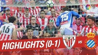 Resumen de Athletic Club vs RCD Espanyol (0-1)