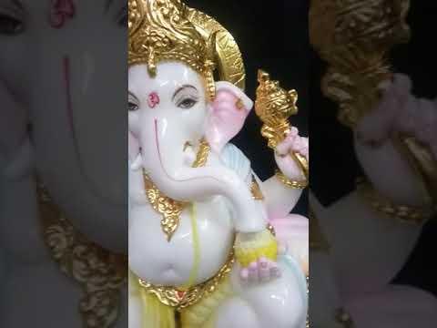 Jaipur Kalakrati White Marble Ganesha Statue