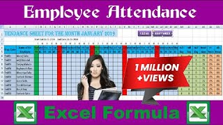 How to make an automated attendance sheet in excel with formula(2019) (V2.0)