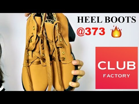 CLUB FACTORY HAUL | REVIEW| HEEL BOOTS @ 371👠
