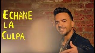 Luis Fonsi Demi Lovato - Échame La Culpa Letra Español Inglés  Spanish English Lyrics