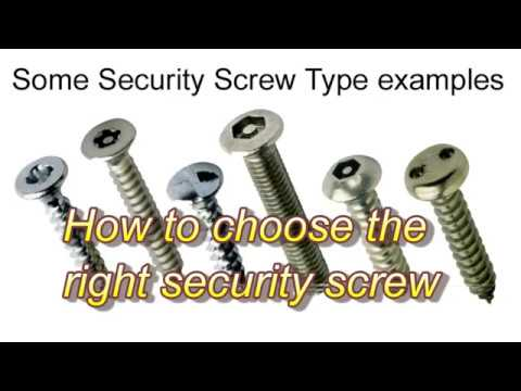 How to choose the right security screw