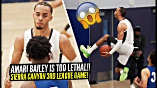 """""""This Is CHILD'S PLAY!"""" Amari Bailey Is TOO LETHAL! 80 POINT DUB In Sierra Canyon's 3rd League Game!"""