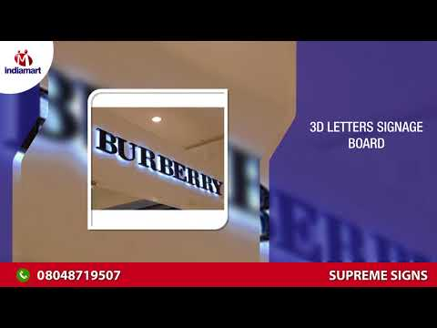 Sign Board - Photo Frame and Letter Box Manufacturer Supreme Signs