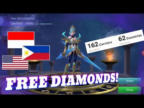 Mobile legends How to Get Free Diamonds Easy | Available for Almost Every Country