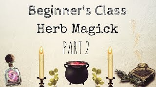 Different Magickal Ways To Work With Herbs | Beginners Class For Herb Magick PART 2