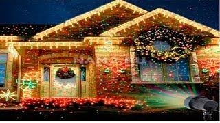 Праздничная лазерная гирлянда-проектор,для дома