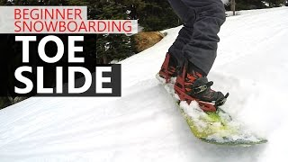 #32 Snowboard begginer – How to toe slide