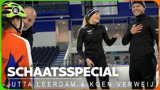 Stralend op het ijs met schaatskoppel Koen en Jutta   Special   Zappsport