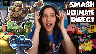 Super Smash Bros. Ultimate Direct Reaction! Simon Belmont & King K. Rool! (8.8.2018) - JustJesss