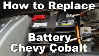 How to Change Battery On A Chevy Cobalt 2005-2010