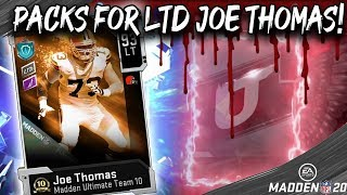 THESE PACKS WERE...SCARY FOR LTD JOE THOMAS! MADDEN 20 ULTIMATE TEAM