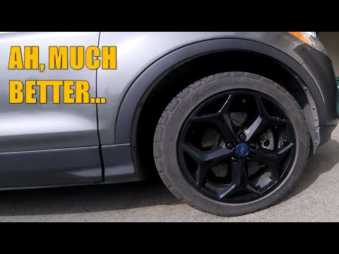 18 x 8 Focus ST Wheels on 2013 Ford Escape