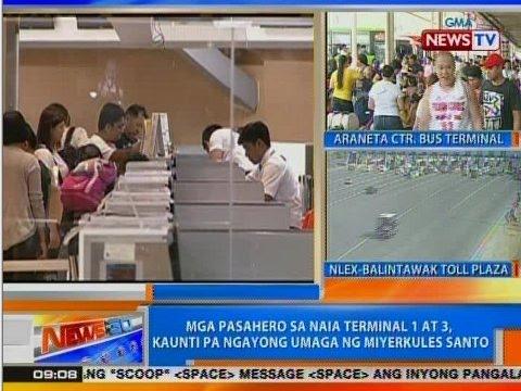 NTG: Mga pasahero sa NAIA Terminal 1 at 3, kaunti pa ngayong umaga ng Miyerkules Santo