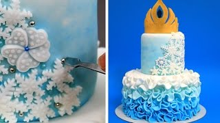 Elsa Crown Cake - How To Make White Modeling Chocolate by CakesStepbyStep