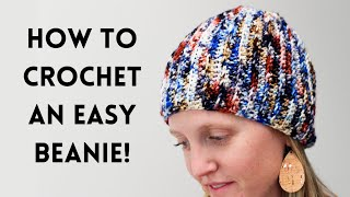 How To Crochet A Beanie   The Easiest Crochet Beanie Pattern • Perfect For Beginners + FREE Pdf