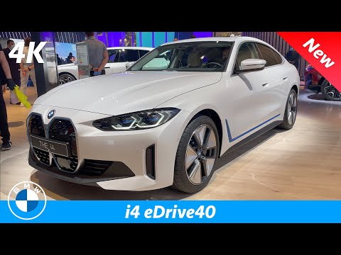 BMW i4 eDrive40 2022 - FIRST quick review in 4K | Exterior - Interior (FULLY LOADED)