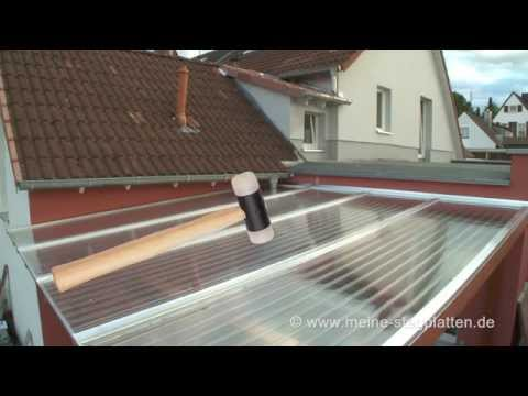 Verlegeanleitung Doppelstegplatten Alu mit PVC Klemmdeckel komplett