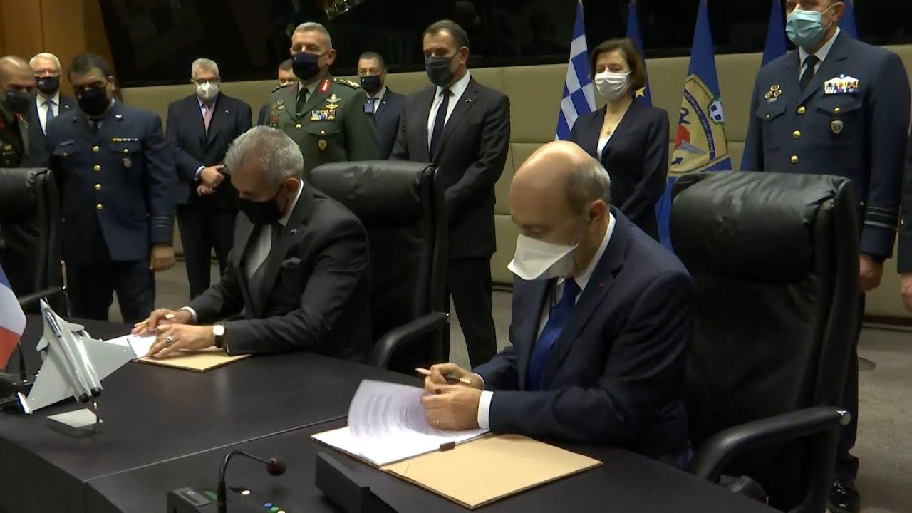 """Yπογραφή της Συμφωνίας για την προμήθεια μαχητικών αεροσκαφών τύπου """"Rafale"""""""