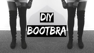 DIY: HOW TO KEEP YOUR OVER THE KNEE BOOTS FROM FALLING/SLOUCHING | Under $10