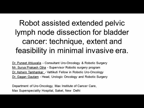 Robot assisted extended pelvic lymph node dissection for bladder cancer: technique, extent and feasibility in minimal invasive era.