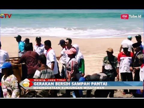 Warga Bersama Kader Perindo Bersihkan Sampah di Pantai Ngantep, Malang - BIP 26/02