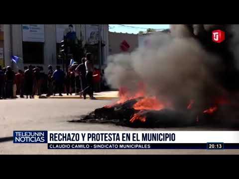 PROTESTA, Y PARO DE MUNICIPALES EN JUNÍN