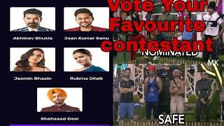 Big Boss S14 / How To Vote Your Favourite contestants / Vote Form Voot App /Bigboss nomination