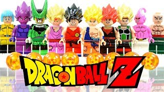 LEGO Dragon Ball Z Super Saiyan Goku Vegeta Gohan Bardock Majin Buu Unofficial Minifigures
