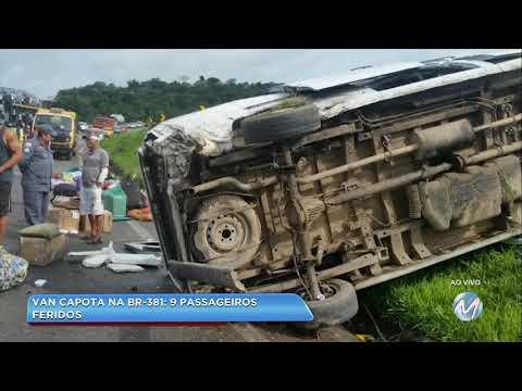 Acidente: quatro carros se envolvem em batida na BR-267, em Bom Jardim de Minas