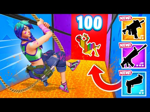 *100 LEVEL* SWING Deathrun in Fortnite