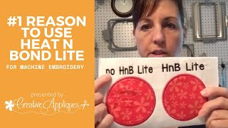 Why We Use Heat N Bond Lite In Machine Embroidery Applique