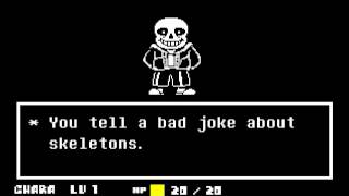 UNDERTALE   Pacifist Run Sans Battle