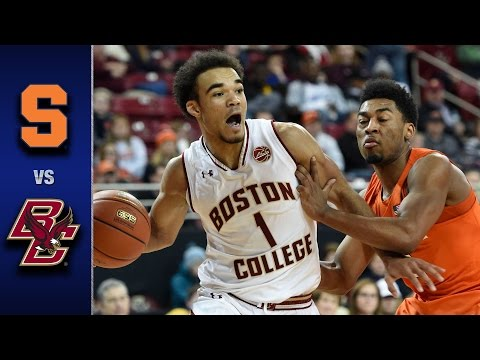 Syracuse vs. Boston College Men's Basketball Highlights (2016-17)