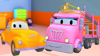 Car garage for kids -  PRINCESS Charlotte - Tom's Paint Shop in Car City