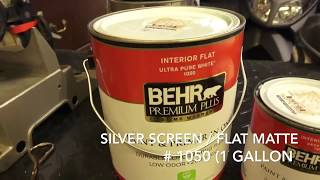 Projection Screen Painting Process In Less Than 3 Minutes