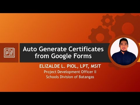 Auto Generate Certificates from Google Forms using AutoCrat Add-ons