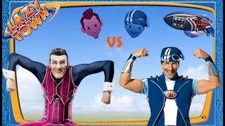 Ziggy Lazy Town Challenge: Robbie Rotten vs Sportacus - Revenge