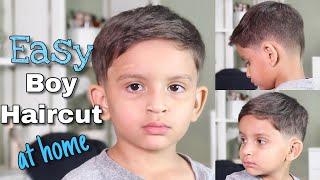 How To Cut Little Boy Hair With Clippers & Scissors | Little Boy Haircut Tutorial