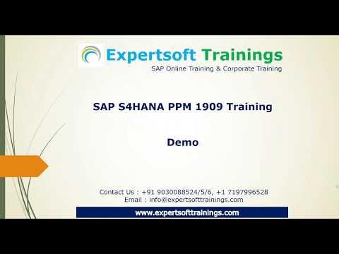 SAP S4HANA PPM 1909 Online Training - YouTube