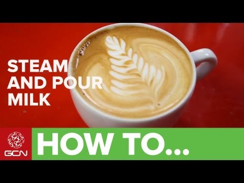 How To Make A Great Cappuccino - Steam And Pour Milk For Coffee