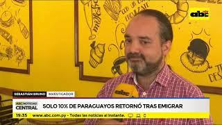 Solo 10% de los paraguayos retornó al emigrar