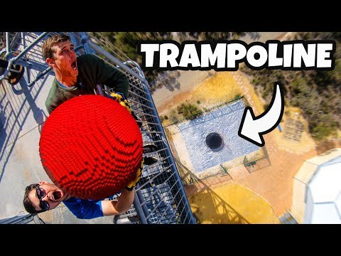 Can a Giant LEGO Ball Survive a Trampoline?
