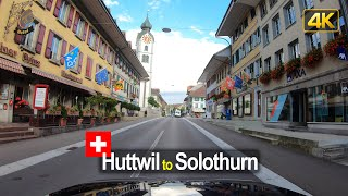 Driving from Huttwil to Solothurn | Road Trip in Switzerland