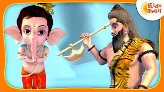 Bal Ganesha's Story | Ganesh Versus Parshuram  (एकदन्त )  | Kids Bhakti